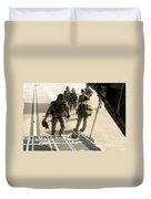 Green Berets Board A C-130h3 Hercules Duvet Cover