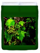 Green Berries Duvet Cover