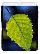 Green Beech Leaf 1 Duvet Cover