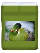 Green Bird Duvet Cover