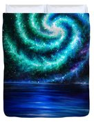 Green-blue Galaxy And Ocean. Planet Dzekhtsaghee Duvet Cover