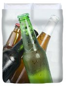 Green Bottle Of Beer Duvet Cover by Deyan Georgiev