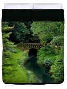 Green Bridge Duvet Cover