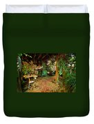 Green Chair Duvet Cover
