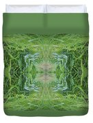 Green Fractal Duvet Cover