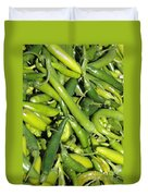 Green Chilis Duvet Cover
