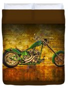 Green Chopper Duvet Cover