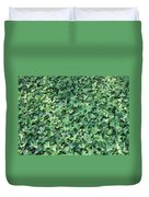 Green Clovers Duvet Cover