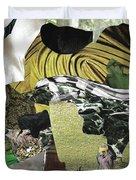 Green Collage 1 Duvet Cover