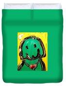 Green Dog Duvet Cover