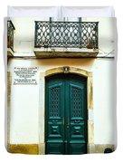 Green Door 6 Duvet Cover