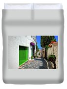 Green Door Passage  Duvet Cover