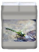 Green Dragonfly Duvet Cover