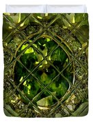 Green Emerald And White Diamond Brooch Distortion Aa H A Duvet Cover