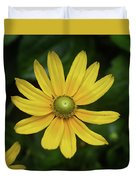 Green Eyed Daisy Duvet Cover