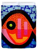 Green Eyed Fish  Duvet Cover