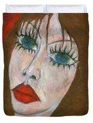 Green Eyed II  Duvet Cover