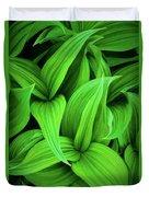 Green False Hellebore Duvet Cover