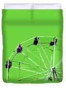 Green Ferris Wheel Duvet Cover