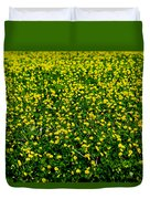 Green Field Of Yellow Flowers 3 Duvet Cover