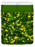 Green Field Of Yellow Flowers 4 Duvet Cover