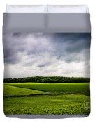 Green Fields Duvet Cover