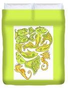 Green Fish Duvet Cover