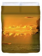 Green Flash Sunset II Duvet Cover