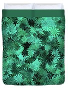 Green Floral Pattern Duvet Cover