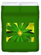 Green Flower Duvet Cover