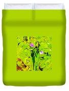 Green Fluidity Duvet Cover