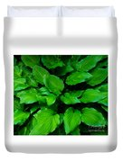 Green Foliage Duvet Cover