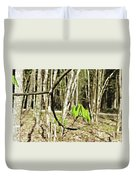 Green Foliage Forest Duvet Cover