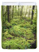 Green Foliage On The Forest Floor Duvet Cover