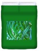 Green Forest Fern Fronds Art Prints Baslee Troutman Duvet Cover