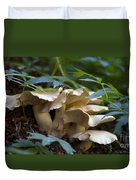 Green Forest Floor Duvet Cover by Barbara Schultheis