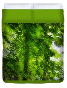 Green Forest Trees 1 Duvet Cover