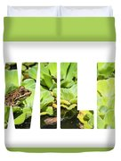 Green Frog In A Wetland Duvet Cover