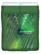 Green Glass Bottles Duvet Cover