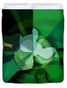 Green Glass Wheels Duvet Cover