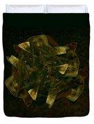 Green Gold Duvet Cover
