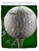 Green Golf Ball Splash Duvet Cover