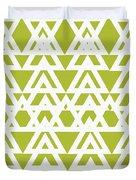 Green Graphic Diamond Pattern Duvet Cover