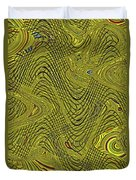 Green Grass Behind The Fence #9 Duvet Cover