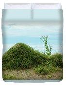 Green Grass Mountain Duvet Cover