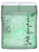 Green Gray Abstract Duvet Cover