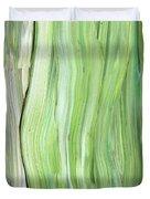 Green Gray Organic Abstract Art For Interior Decor Vi Duvet Cover