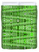 Green Heavy Screen Abstract Duvet Cover