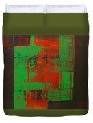 Green Interlock Duvet Cover