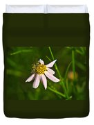 Green Iridescent Bee Duvet Cover
